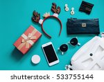 Fashion Concept   Flat Lay Of...