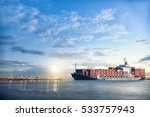 logistics and transportation of ... | Shutterstock . vector #533757943