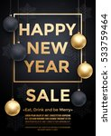 new year sale poster with gold...   Shutterstock .eps vector #533759464