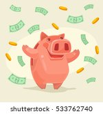 piggy bank character under... | Shutterstock .eps vector #533762740