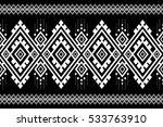 geometric ethnic pattern... | Shutterstock .eps vector #533763910