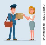 courier man character brought... | Shutterstock .eps vector #533765050