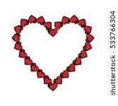 cartoon valentine day heart... | Shutterstock .eps vector #533766304