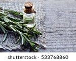 rosemary essential oil in a... | Shutterstock . vector #533768860