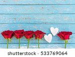 Red Roses Love Background With...