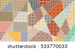 vector patchwork pattern.... | Shutterstock .eps vector #533770033