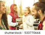 group of multiracial friend... | Shutterstock . vector #533770666