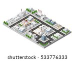 the perspective view city | Shutterstock . vector #533776333