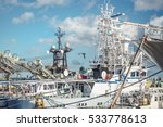 scenery of the fishing port | Shutterstock . vector #533778613