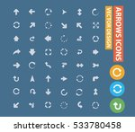 arrows icons design clean... | Shutterstock .eps vector #533780458