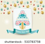 christmas and happy new year.... | Shutterstock .eps vector #533783758