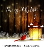 vintage christmas wood... | Shutterstock .eps vector #533783848