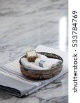 hamam accesorieson marble | Shutterstock . vector #533784769