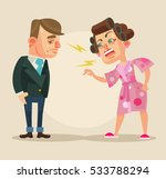 angry wife character yelling at ... | Shutterstock .eps vector #533788294