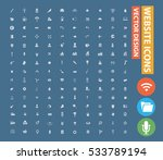 website icon set clean vector | Shutterstock .eps vector #533789194
