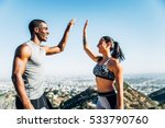 motivated couple of runners... | Shutterstock . vector #533790760