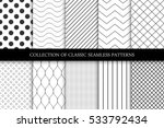 Collection of seamless geometric minimalistic patterns. | Shutterstock vector #533792434
