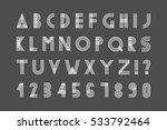 simple minimalistic font... | Shutterstock .eps vector #533792464