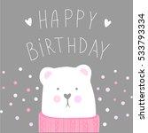 happy birthday vector greeting...   Shutterstock .eps vector #533793334