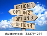 wooden signpost with four... | Shutterstock . vector #533794294