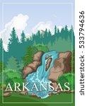 arkansas vector american poster.... | Shutterstock .eps vector #533794636