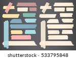 colorful different size paper... | Shutterstock .eps vector #533795848