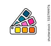 cmyk  pantone picker  colour... | Shutterstock .eps vector #533799976