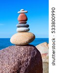 pyramid from colored stones on... | Shutterstock . vector #533800990