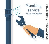 professional plumber with an... | Shutterstock .eps vector #533801980
