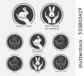cruelty free icons. not tested...   Shutterstock .eps vector #533803429