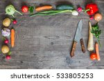 fresh organic vegetables on... | Shutterstock . vector #533805253