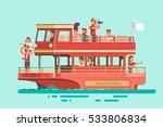 Tourists On Cruise Ship Sailin...