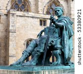 A Bronze Statue Of Constantine...