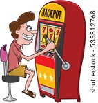 guy playing on slot machine  ... | Shutterstock .eps vector #533812768