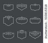 frame classic template. vintage ... | Shutterstock .eps vector #533815318