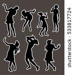 black singing people... | Shutterstock .eps vector #533817724