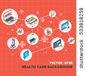 illustration of info graphic... | Shutterstock .eps vector #533818258