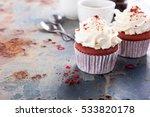 delicious red velvet cupcakes... | Shutterstock . vector #533820178