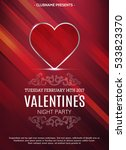 valentines day party flyer.... | Shutterstock .eps vector #533823370