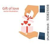 gift of love concept. happy... | Shutterstock .eps vector #533825008