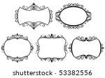 set of vintage frames isolated... | Shutterstock .eps vector #53382556