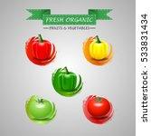 fresh vegetables icon. vector... | Shutterstock .eps vector #533831434