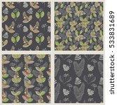 scandinavian vector floral... | Shutterstock .eps vector #533831689