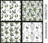 scandinavian vector floral... | Shutterstock .eps vector #533831710