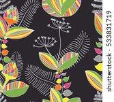 scandinavian vector floral... | Shutterstock .eps vector #533831719