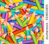 seamless vector chaotic pattern ... | Shutterstock .eps vector #533831854