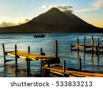 pier on the atitlan lake in... | Shutterstock . vector #533833213