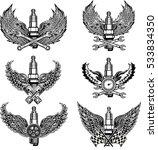 vector of vintage car symbols.... | Shutterstock .eps vector #533834350