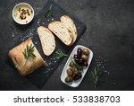 italian ciabatta bread  on... | Shutterstock . vector #533838703