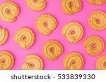 danish butter cookies on pink... | Shutterstock . vector #533839330